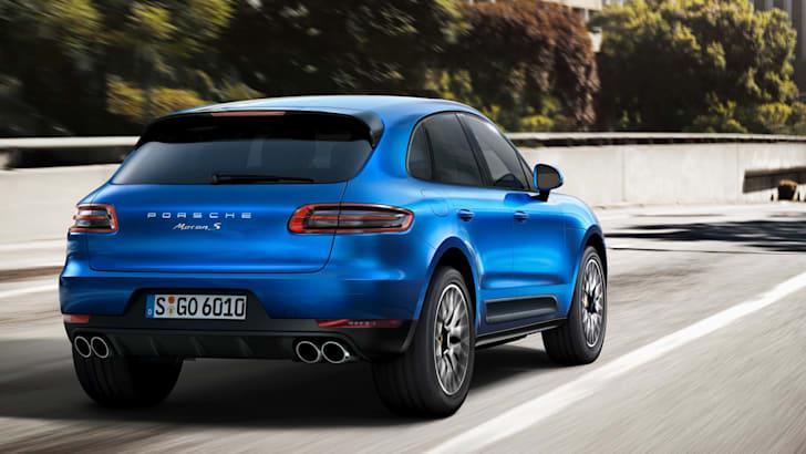 Porsche Macan blue rear