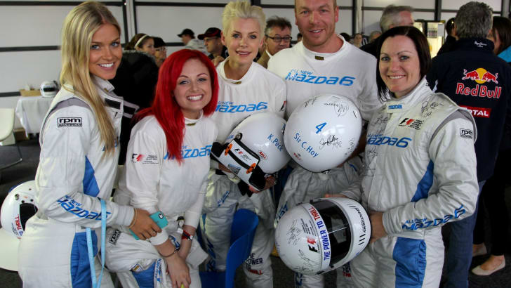 Mazda 6 Celebrity Challenge - Renae Ayris, Sarah De Bono, Kate Peck, Sir Chris Hoy and Anna Meares