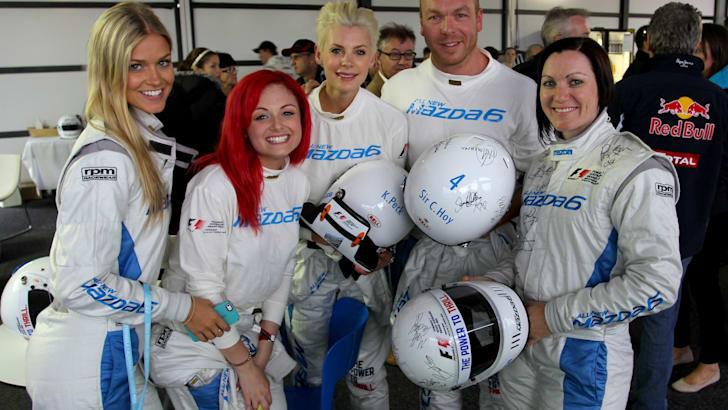 Mazda 6 Celebrity Challenge - Renae Ayris, Sarah De Bono, Kate Peck, Sir Chris Hoy and Anna Meares