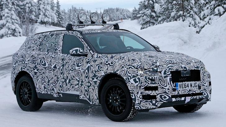 Jaguar F Pace spied main