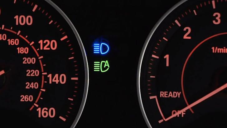BMW automatic high beam dash light