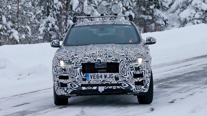 Jaguar F Pace spied front