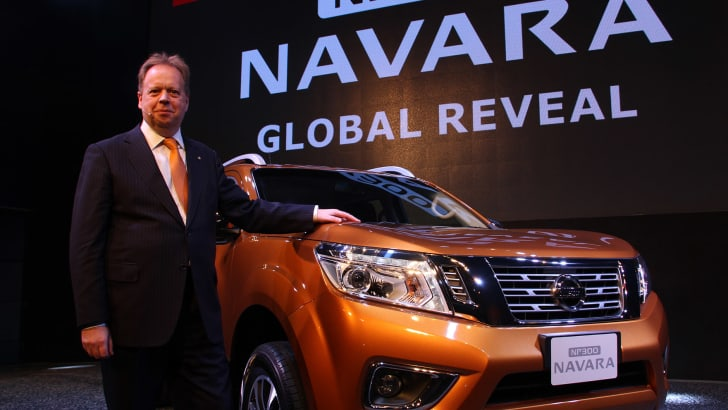 Andy Palmer at the Nissan Navara global reveal