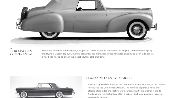 Lincoln Timeline 1: Continental