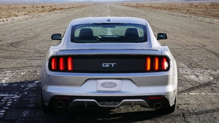 Ford Mustang GT silver rear