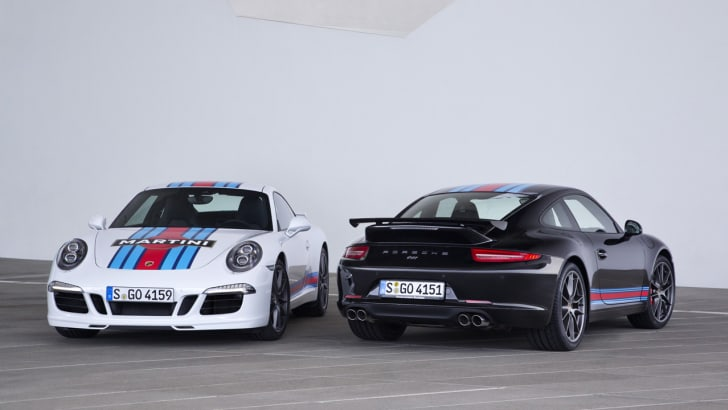 Porsche 911 Carrera S Martini Racing Edition black and white