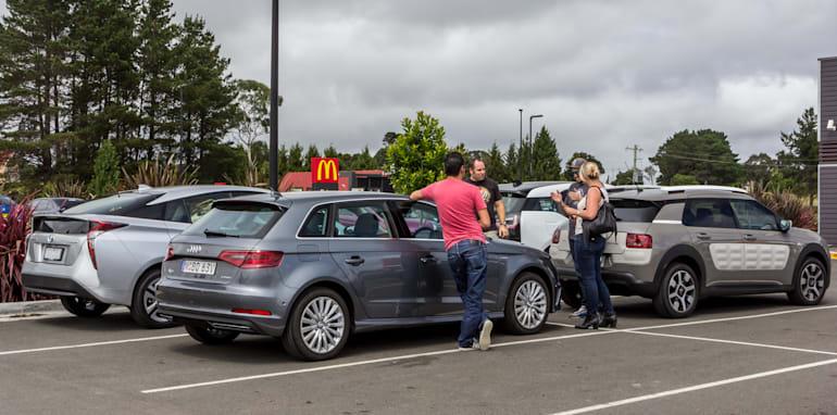 Eco-Test Country loop - Audi A3 e-tron v BMW i3 v Citroen C4 Cactus v Toyota Prius-22