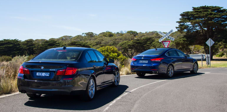 2014-HYUNDAIandBMW-528i-vs-genesis-comparison-35