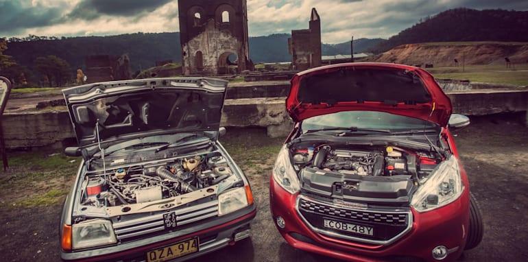 Old v New - Subaru WRX, Mini Cooper S, Peugeot GTi_12