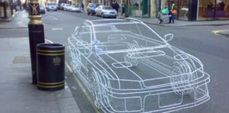 Subaru Impreza WRX Wire Frame Sculpture