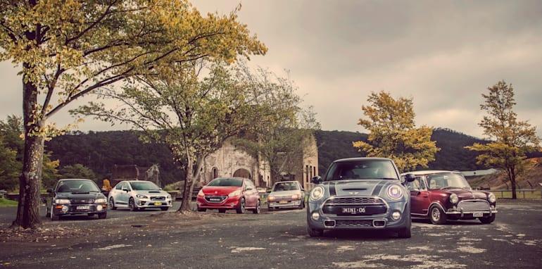 Old v New - Subaru WRX, Mini Cooper S, Peugeot GTi_01