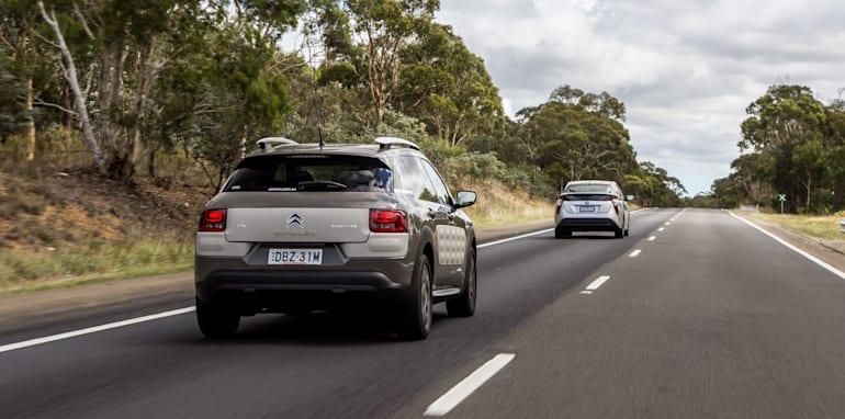 Eco-Test Country loop - Audi A3 e-tron v BMW i3 v Citroen C4 Cactus v Toyota Prius-31