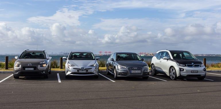 Eco-Test Urban loop - Audi A3 e-tron v BMW i3 v Citroen C4 Cactus v Toyota Prius-50