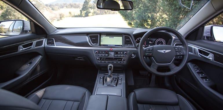 2016 Luxury sedan comparison Hyundai Genesis Ultimate v Jaguar XF 20d Prestige v Infiniti Q70 GT v Lexus GS200t F Sport v Skoda Superb sedan 206TSI-145