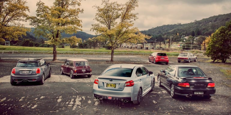 Old v New - Subaru WRX, Mini Cooper S, Peugeot GTi_02