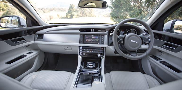 2016 Luxury sedan comparison Hyundai Genesis Ultimate v Jaguar XF 20d Prestige v Infiniti Q70 GT v Lexus GS200t F Sport v Skoda Superb sedan 206TSI-125