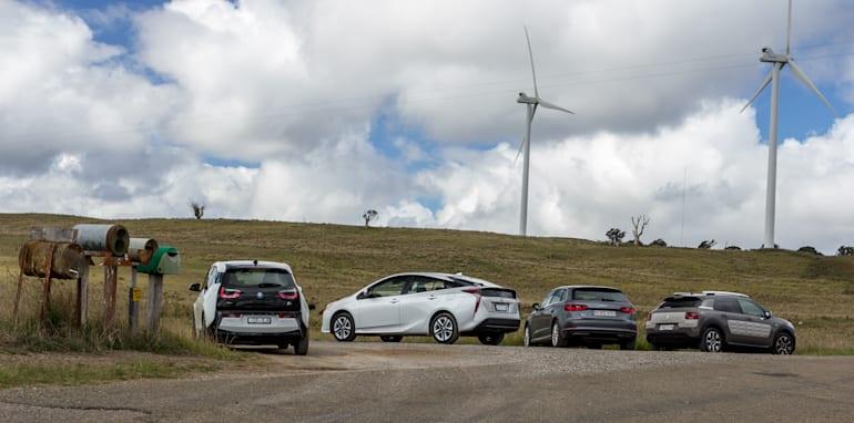 Eco-Test Country loop - Audi A3 e-tron v BMW i3 v Citroen C4 Cactus v Toyota Prius-55