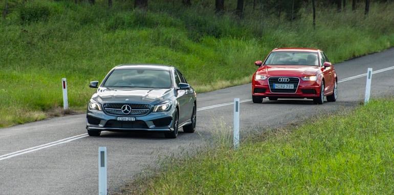 Audi A3 sedan v Mercedes-Benz CLA-Class-13