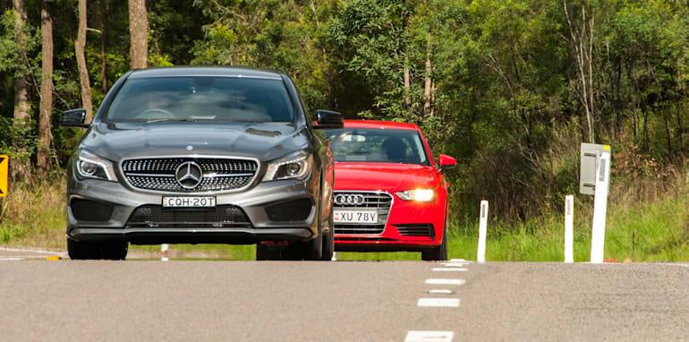 Audi A3 sedan v Mercedes-Benz CLA-Class-7