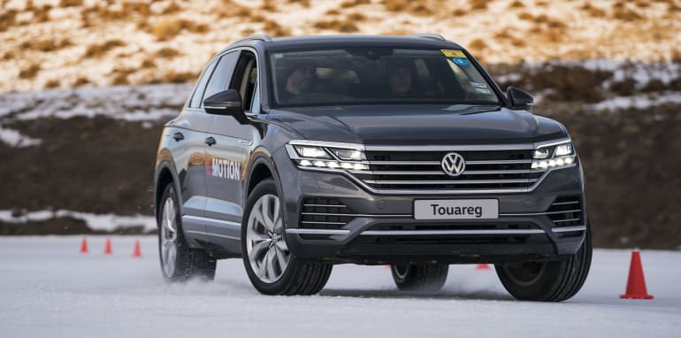 Volkswagens on ice (and track)