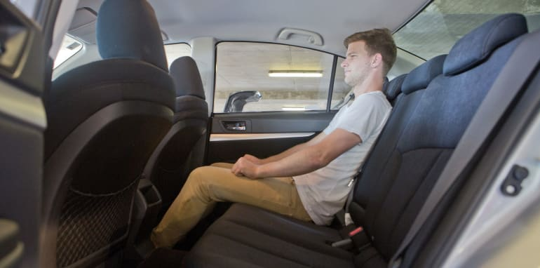 Mid-size Sedans - Subaru Liberty rear seat