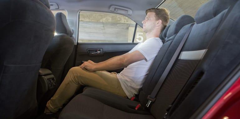 Mid-size Sedans - Toyota Camry Hybrid rear seat