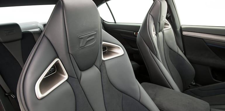 2016 Lexus GS F Alcantara front seats