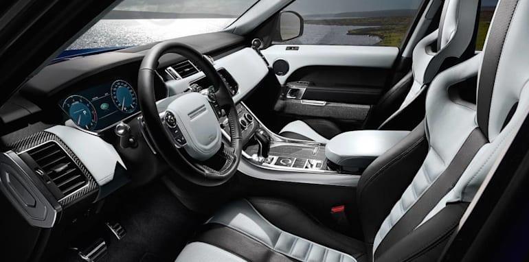 Range Rover Sport SVR dash side