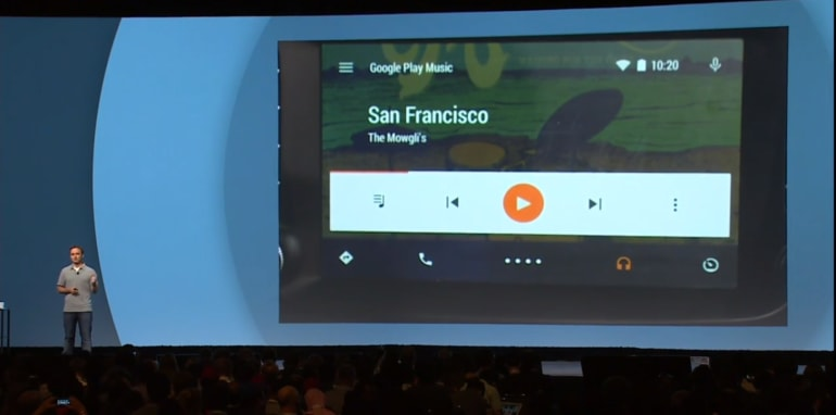 Android Auto Google Play Music streaming