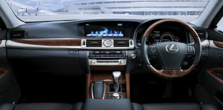 2013 Lexus LS Sports Luxury interior (pre-production model shown)