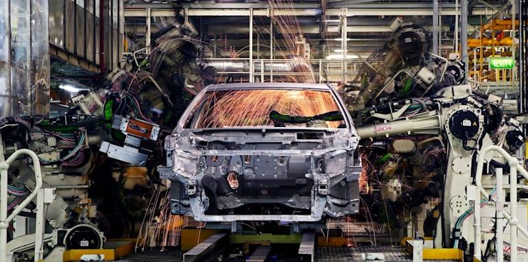 Body Shop welding of cars, Toyota Australia's Altona manufacturing plant