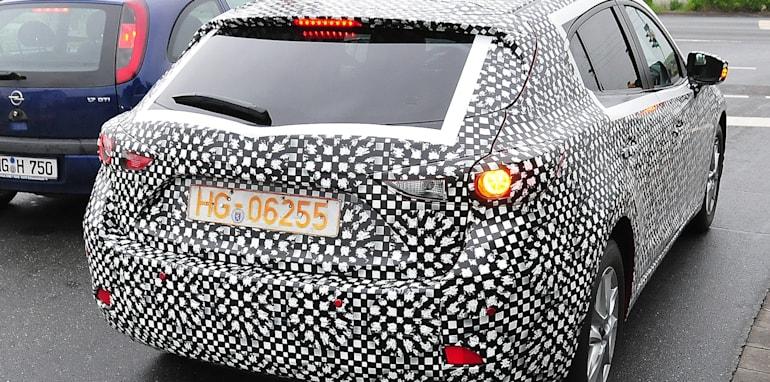 Mazda3 spy rear quarter