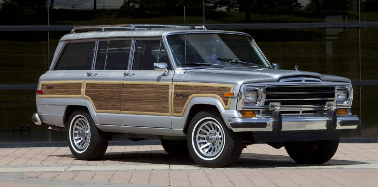 1989 Jeep Grand Wagoneer; Based on the Jeep SJ platform, Jeep Wa