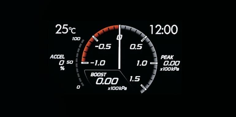 MY15 Subaru WRX Boost Pressure Display.