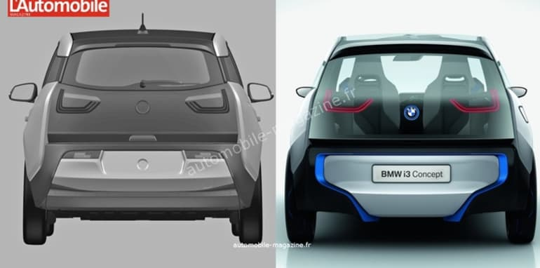 BMW i3 patent sketches revealed - 3