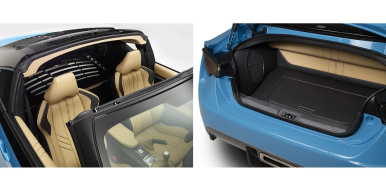Scion FR-S T1 - boot and targa storage space