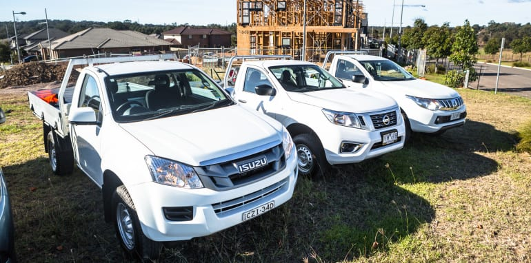 2016 Single-cab ute comparison Isuzu D-Max SX Mazda BT-50 XT Mitsubishi Triton GLX Nissan Navara DX Toyota HiLux Workmate-358