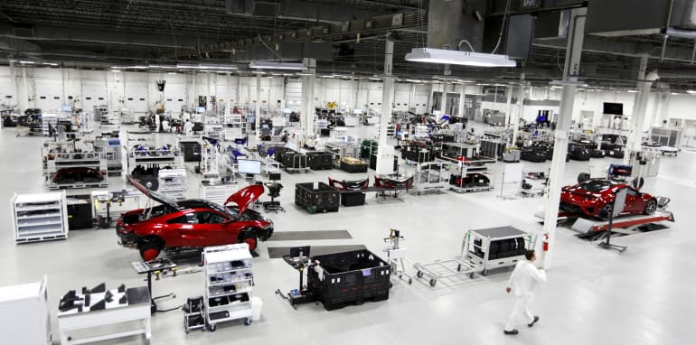With no walls to separate departments, the Performance Manufactu