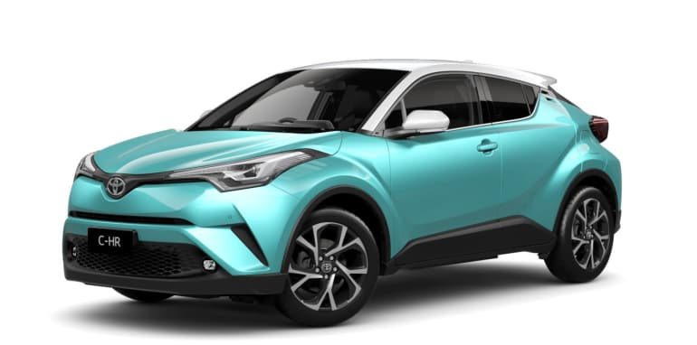 2017 Toyota C-HR Koba in Electric Teal with optional white roof