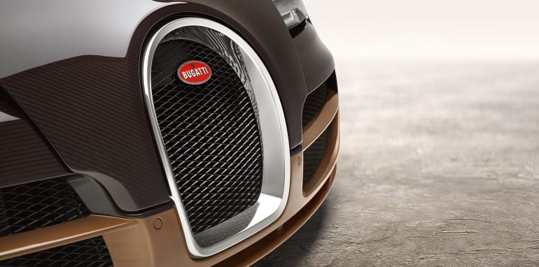 Bugatti Veyron horseshoe grille