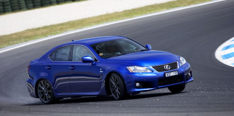 Lexus IS F sideways
