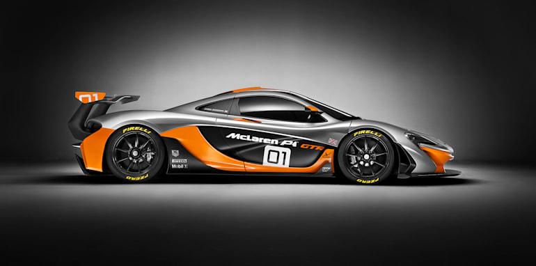 McLaren P1 GTR design concept side