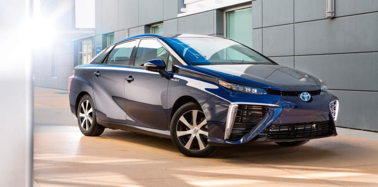 Toyota Mirai - a fun-to-drive car with the only emission being water vapour