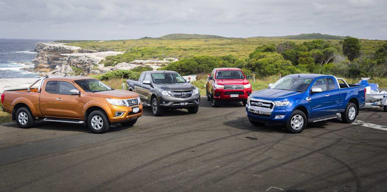 2016 extra cab ute comparison Mazda BT-50 v Nissan Navara v Ford Ranger v Toyota HiLux-2393