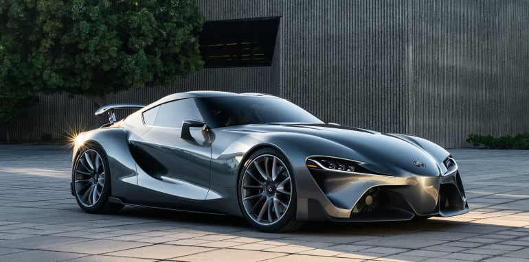 Toyota FT-1 grey - front