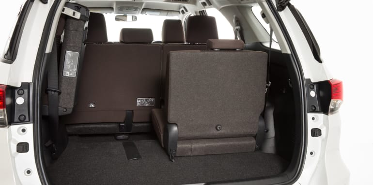 Toyota Fortuner GX interior (Pre-production model shown.)