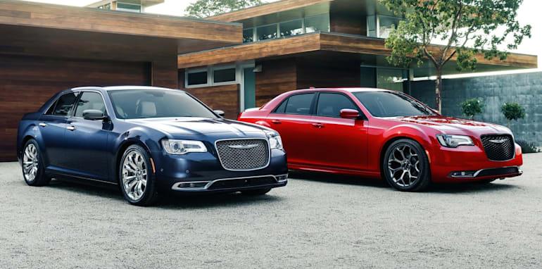 2015 Chrysler 300C Platinum (left) and 300S (right)