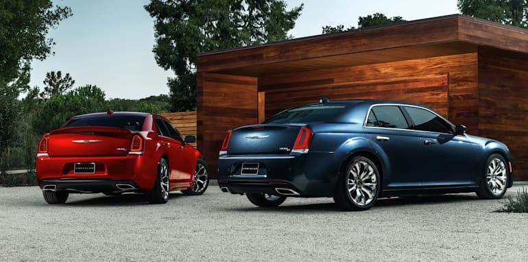 2015 Chrysler 300S (left) and 300C Platinum (right)
