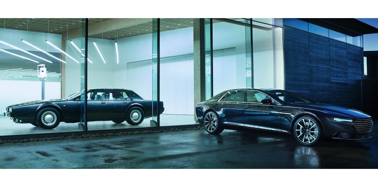 Aston Martin Lagonda - original and new