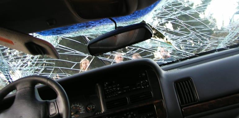 Car crash interior